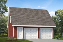 Colonial Exterior - Front Elevation Plan #47-1069