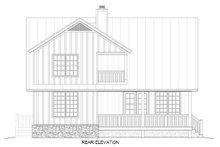 Country Exterior - Rear Elevation Plan #932-2