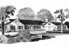 Ranch Exterior - Front Elevation Plan #72-304