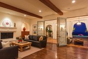 Mediterranean Style House Plan - 4 Beds 5 Baths 6860 Sq/Ft Plan #484-8 Interior - Family Room