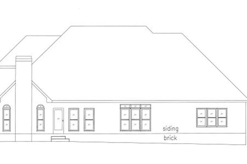 Traditional Exterior - Rear Elevation Plan #437-37 - Houseplans.com