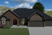 Traditional Style House Plan - 4 Beds 2.5 Baths 4989 Sq/Ft Plan #1060-61 Exterior - Front Elevation