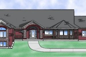 Country Exterior - Front Elevation Plan #5-123