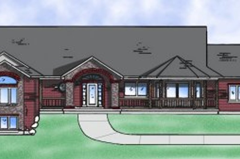 Dream House Plan - Country Exterior - Front Elevation Plan #5-123