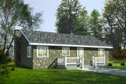 Cottage Style House Plan - 2 Beds 1 Baths 960 Sq/Ft Plan #92-103 Exterior - Front Elevation