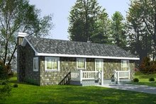 Home Plan - Cottage Exterior - Front Elevation Plan #92-103