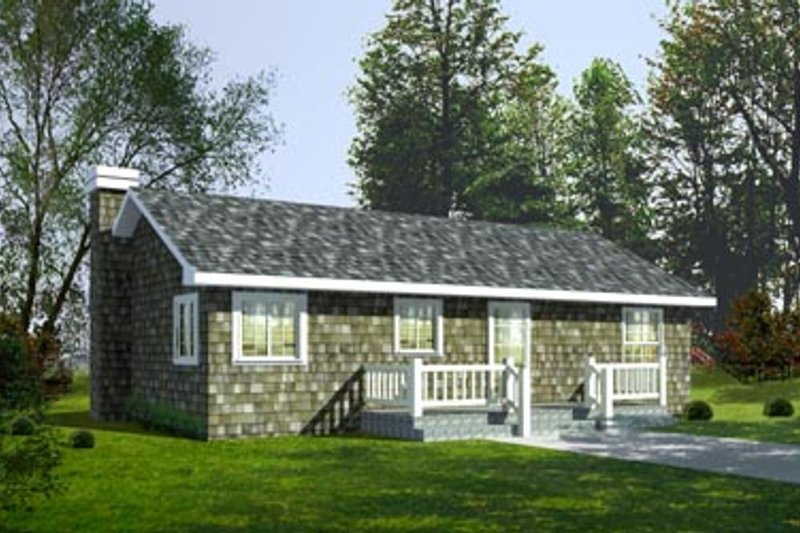 Cottage Exterior - Front Elevation Plan #92-103