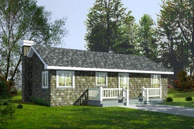 Cottage Exterior - Front Elevation Plan #92-103