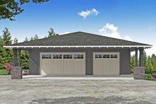 Dream House Plan - Prairie Exterior - Front Elevation Plan #124-1187