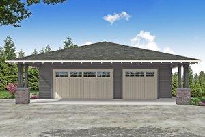 Prairie Exterior - Front Elevation Plan #124-1187