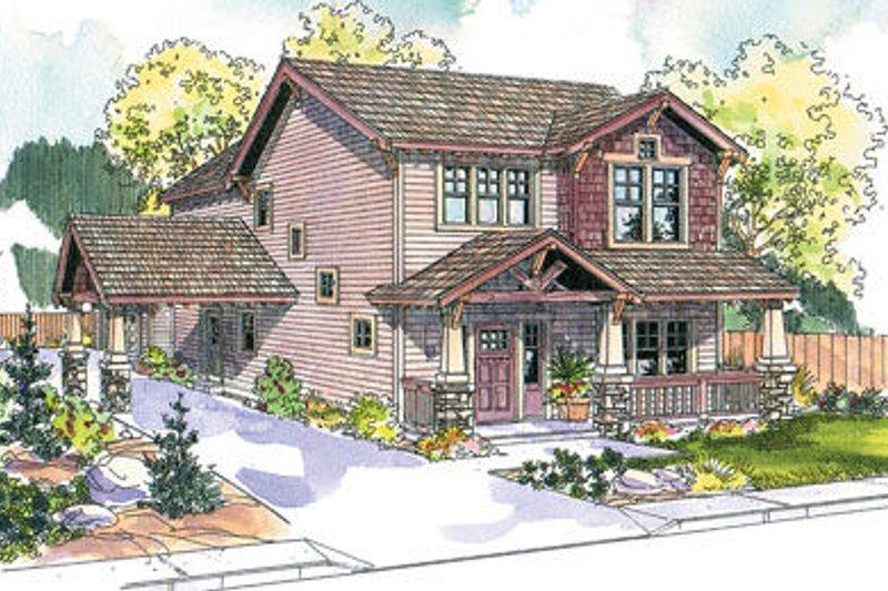 Craftsman Exterior - Front Elevation Plan #124-618