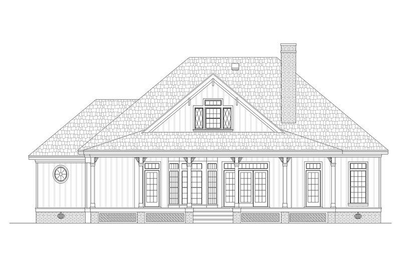 Southern Exterior - Rear Elevation Plan #45-376 - Houseplans.com