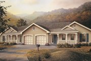 Traditional Style House Plan - 3 Beds 2 Baths 2318 Sq/Ft Plan #57-142 Exterior - Front Elevation