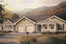 Architectural House Design - Traditional Exterior - Front Elevation Plan #57-142