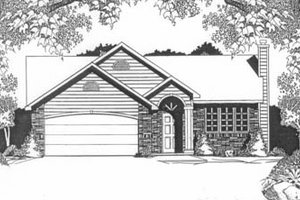 Dream House Plan - Traditional Exterior - Front Elevation Plan #58-107