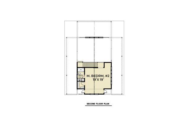 Cabin Floor Plan - Upper Floor Plan Plan #1070-100