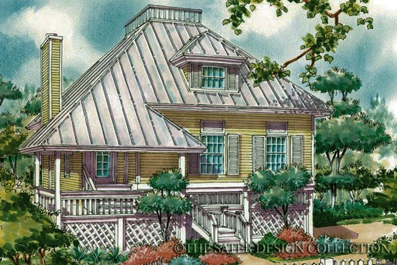 Home Plan - Country Exterior - Front Elevation Plan #930-29