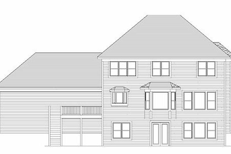 Traditional Exterior - Rear Elevation Plan #51-357 - Houseplans.com