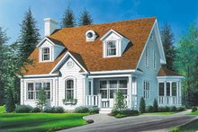 Home Plan Design - Country Exterior - Front Elevation Plan #23-213