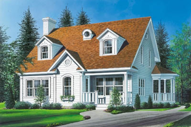 Country Style House Plan - 3 Beds 1.5 Baths 2056 Sq/Ft Plan #23-213 Exterior - Front Elevation