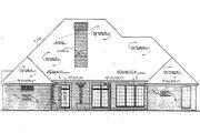 European Style House Plan - 4 Beds 3 Baths 2391 Sq/Ft Plan #310-816 Exterior - Rear Elevation