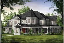 Home Plan - Victorian Exterior - Front Elevation Plan #72-196