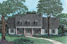 Country Exterior - Front Elevation Plan #20-1029