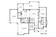 Craftsman Floor Plan - Main Floor Plan Plan #920-109