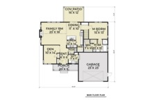 Farmhouse Floor Plan - Main Floor Plan Plan #1070-16