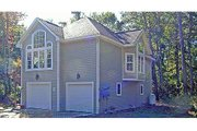Craftsman Style House Plan - 1 Beds 1 Baths 1029 Sq/Ft Plan #456-12 Exterior - Rear Elevation