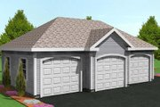 Traditional Style House Plan - 0 Beds 0 Baths 916 Sq/Ft Plan #75-209 Exterior - Other Elevation