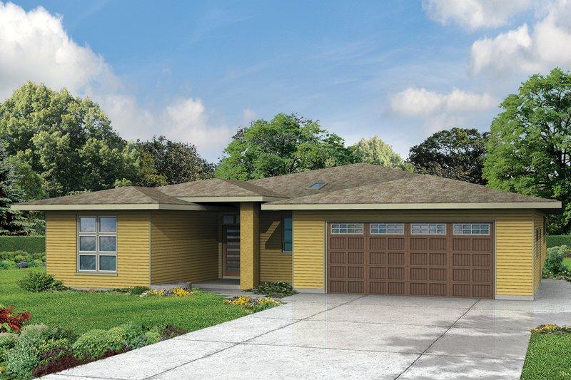 Prairie Exterior - Front Elevation Plan #124-946 - Houseplans.com