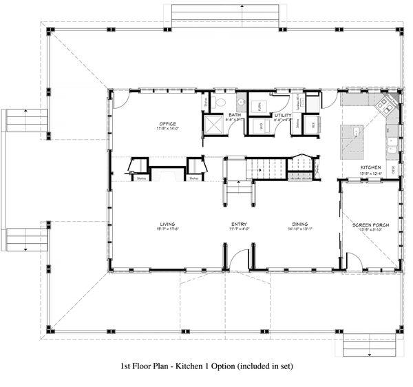 Country Floor Plan - Main Floor Plan Plan #917-12