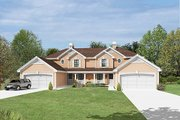 Traditional Style House Plan - 3 Beds 2.5 Baths 3056 Sq/Ft Plan #57-391