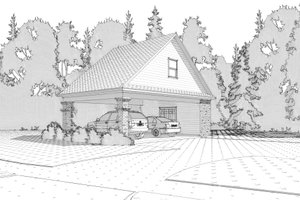 Traditional Exterior - Front Elevation Plan #63-315