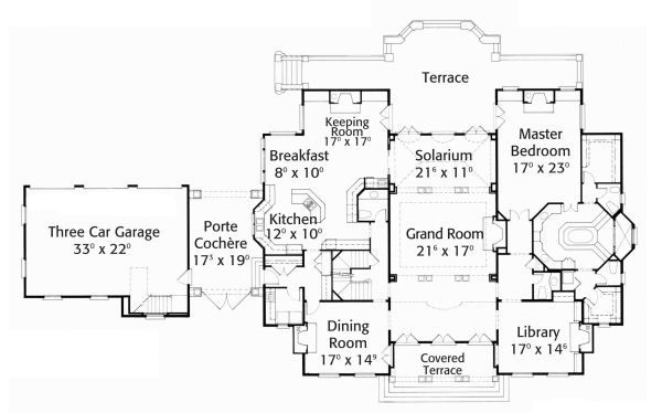 European Floor Plan - Main Floor Plan #429-43