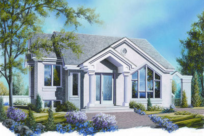 Mediterranean Exterior - Front Elevation Plan #23-701