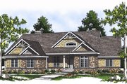 Country Style House Plan - 3 Beds 2.5 Baths 2370 Sq/Ft Plan #70-377 Exterior - Front Elevation