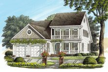 Southern Exterior - Front Elevation Plan #137-189