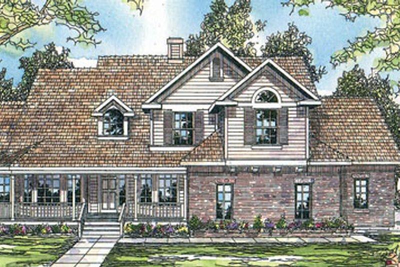 Farmhouse Exterior - Front Elevation Plan #124-198 - Houseplans.com