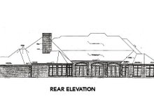 Dream House Plan - European Exterior - Rear Elevation Plan #310-664