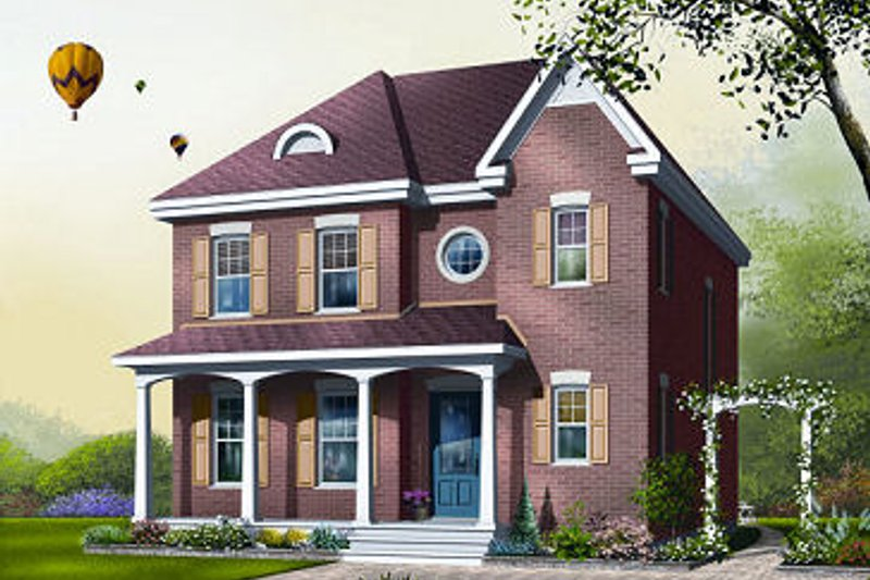 Traditional Exterior - Front Elevation Plan #23-734 - Houseplans.com