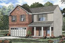 Dream House Plan - Traditional Exterior - Front Elevation Plan #17-434