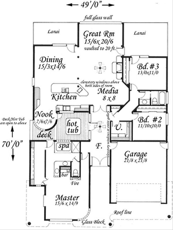 Modern Floor Plan - Main Floor Plan Plan #509-13