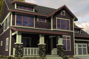 Craftsman Exterior - Front Elevation Plan #461-12