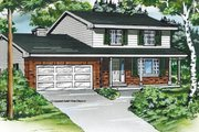 Traditional Style House Plan - 4 Beds 2.5 Baths 1988 Sq/Ft Plan #47-455 Exterior - Front Elevation