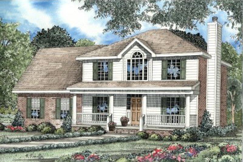 Dream House Plan - Farmhouse Exterior - Front Elevation Plan #17-234