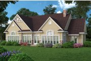 Craftsman Style House Plan - 4 Beds 2.5 Baths 2500 Sq/Ft Plan #45-369 Exterior - Rear Elevation