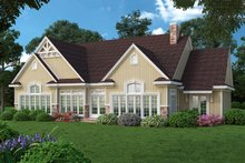 House Plan Design - Country design with Craftsman details, rear elevation