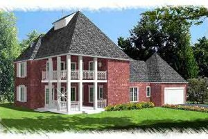 Dream House Plan - Southern Exterior - Front Elevation Plan #15-270